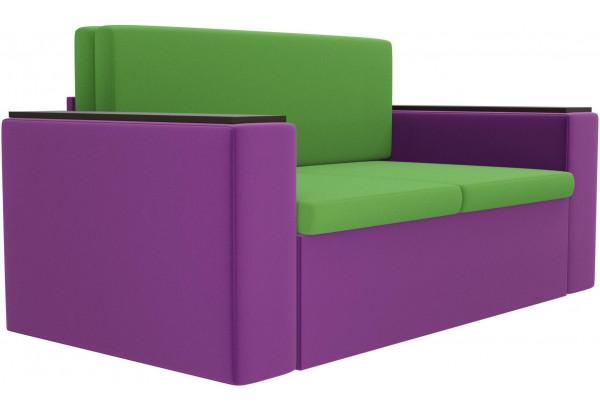 Детский диван Арси зеленый/фиолетовый (Микровельвет) - фото 3