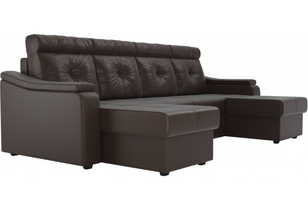П-образный диван Джастин Коричневый (Экокожа) - фото 3