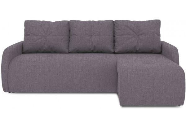 Диван угловой правый «Томас Slim Т1» (Levis 68 (рогожка) Темно - фиолетовый) - фото 2