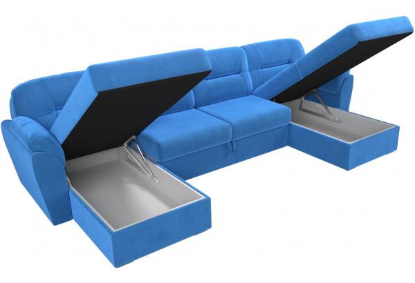 П-образный диван Бостон Голубой (Велюр) - фото 6