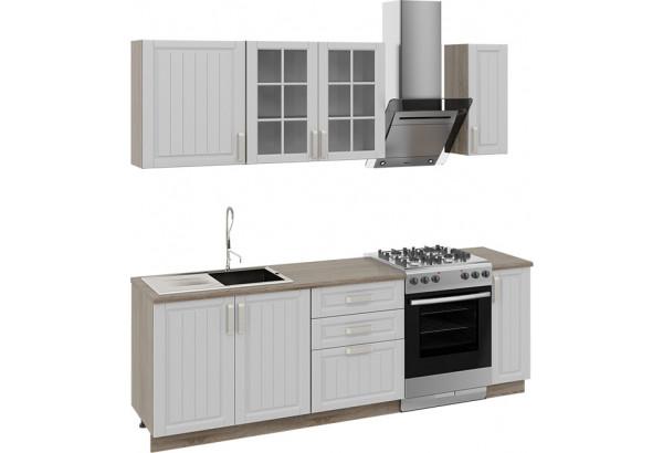 Кухонный гарнитур длиной - 240 см Дуб Сонома трюфель/Крем - фото 1