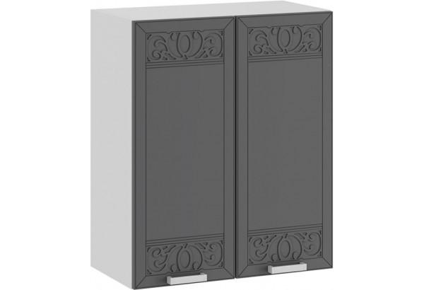 Шкаф навесной c двумя дверями «Долорес» (Белый/Титан) - фото 1