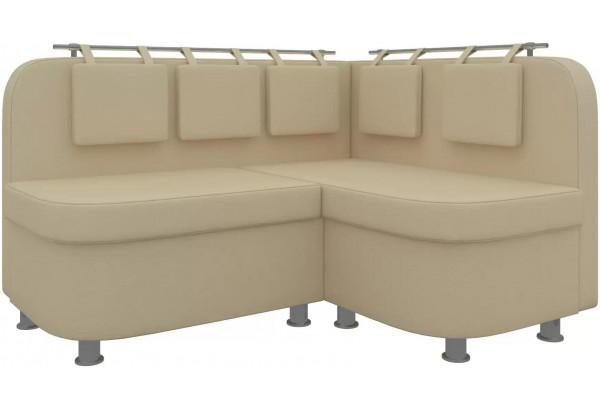 Кухонный угловой диван Уют 2 Бежевый (Экокожа) - фото 1