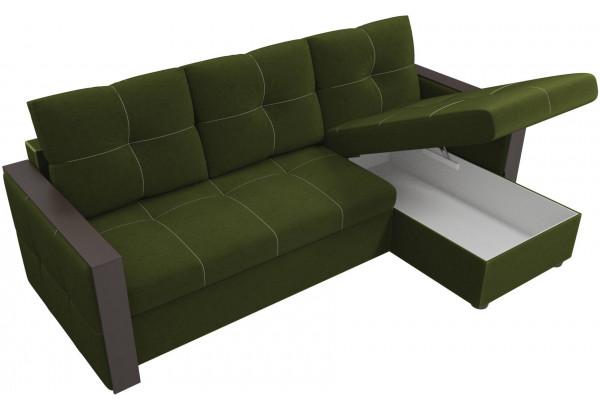Угловой диван Валенсия Зеленый (Микровельвет) - фото 5