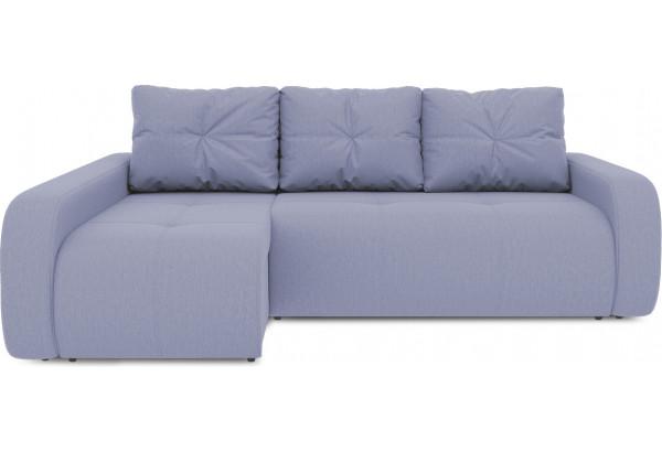 Диван угловой левый «Томас Т2» (Poseidon Blue Graphite (иск.замша) серо-фиолетовый) - фото 2