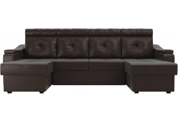 П-образный диван Джастин Коричневый (Экокожа) - фото 2