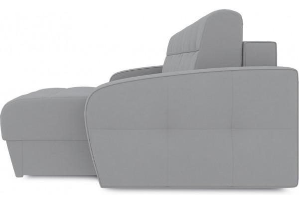 Диван угловой правый «Аспен Т1» (Poseidon Grey (иск.замша) серый) - фото 4