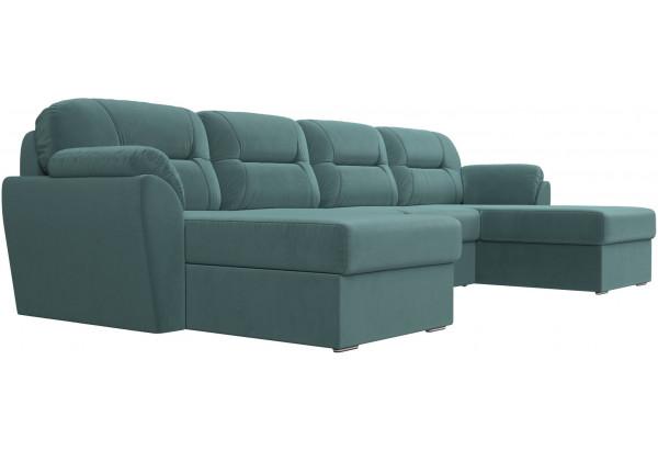 П-образный диван Бостон бирюзовый (Велюр) - фото 3