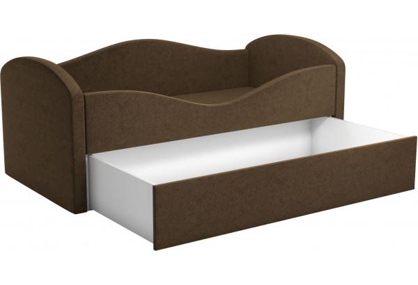 Детская кровать Сказка Коричневый (Микровельвет) - фото 2
