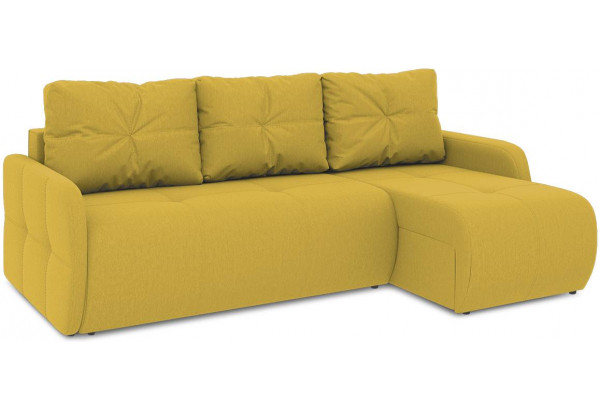 Диван угловой правый «Томас Slim Т1» (Poseidon Curcuma (иск.замша) желтый) - фото 1