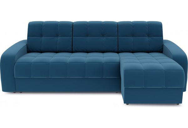 Диван угловой правый «Аспен Т1» Beauty 07 (велюр) синий - фото 2