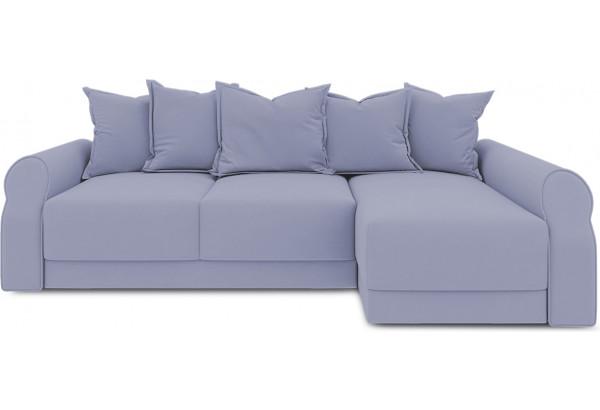 Диван угловой правый «Люксор Т2» (Poseidon Blue Graphite (иск.замша) серо-фиолетовый) - фото 2
