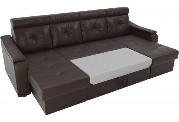 П-образный диван Джастин Коричневый (Экокожа) - фото 6