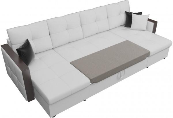 П-образный диван Валенсия Белый (Экокожа) - фото 6