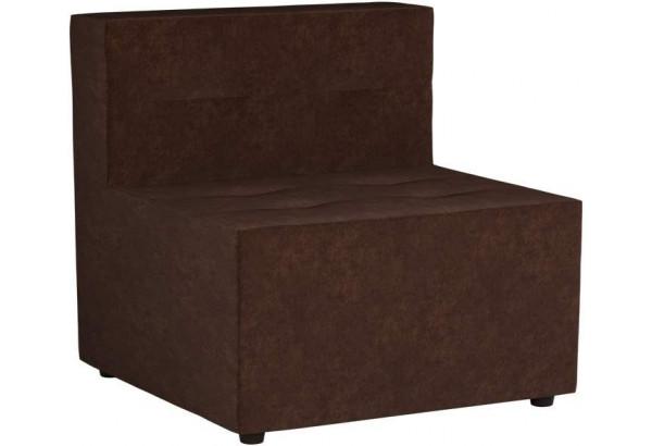 Модульный диван Домино Коричневый (Микровельвет) - фото 1