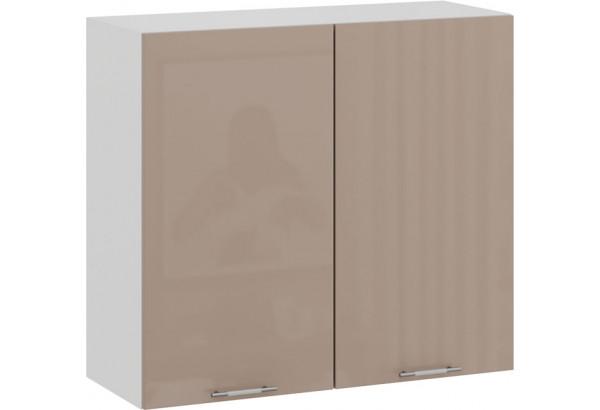 Шкаф навесной c двумя дверями «Весна» (Белый/Кофе с молоком) - фото 1