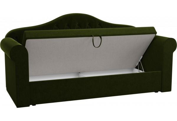 Детская кровать Делюкс Зеленый (Микровельвет) - фото 2