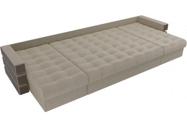 П-образный диван Венеция Бежевый (Микровельвет) - фото 7