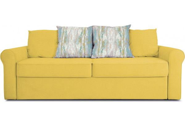 Диван «Шерри» Maserati 11 (велюр) желтый, подушки Tiffany laguna (шинил) морская волна - фото 2