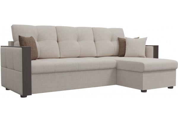 Угловой диван Валенсия Бежевый (Рогожка) - фото 1