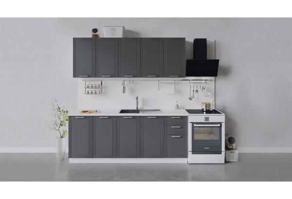 Кухонный гарнитур «Ольга» длиной 200 см (Белый/Графит) - фото 1