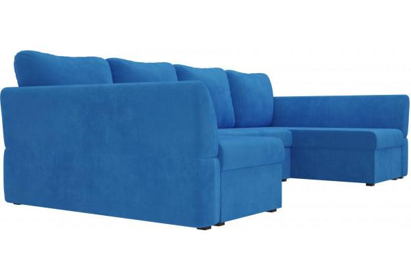 П-образный диван Гесен Голубой (Велюр) - фото 3