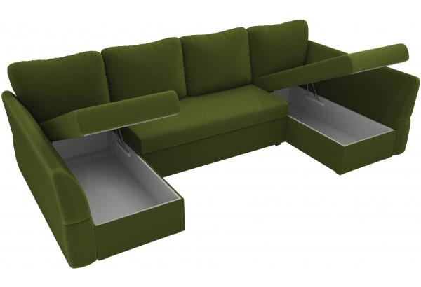 П-образный диван Гесен Зеленый (Микровельвет) - фото 5