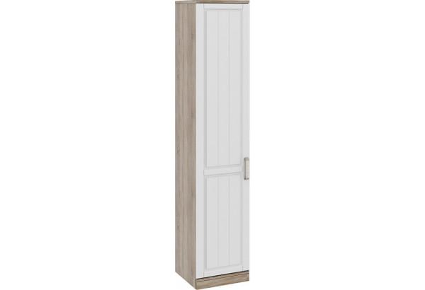 Шкаф для белья с 1-ой дверью левый «Прованс» Дуб Сонома трюфель/Крем - фото 1