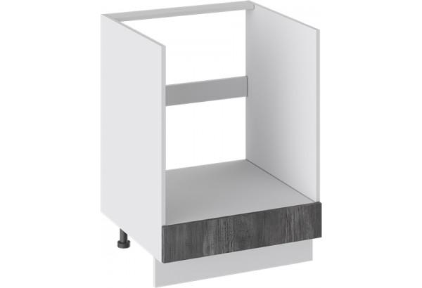 Шкаф напольный под бытовую технику с 1-м ящиком (ПРОВАНС (Белый глянец/Санторини темный)) - фото 1
