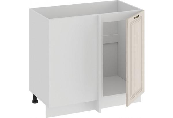 Шкаф напольный угловой «Лина» (Белый/Крем) - фото 2