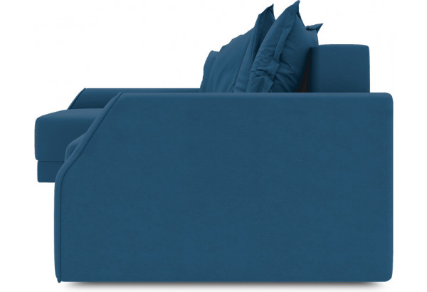Диван угловой левый «Люксор Slim Т2» (Beauty 07 (велюр) синий) - фото 3