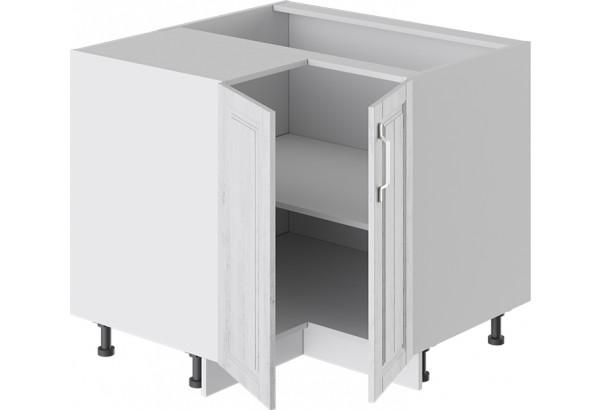 Шкаф напольный угловой с углом 90° (ПРОВАНС (Белый глянец/Санторини светлый)) - фото 2