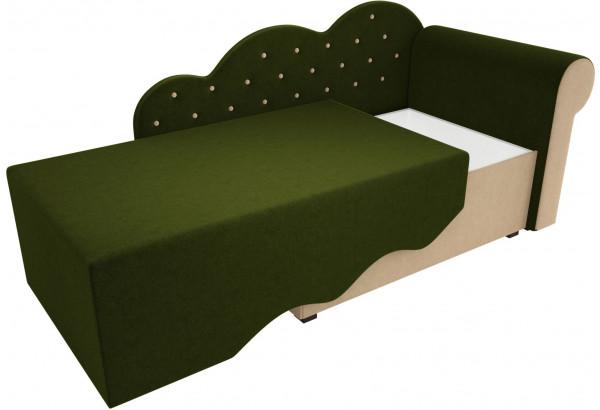 Детская кровать Тедди-1 Зеленый/Бежевый (Микровельвет) - фото 3