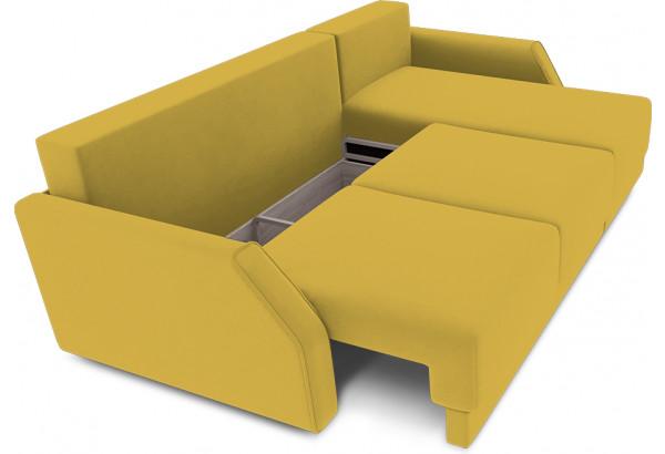 Диван угловой правый «Люксор Slim Т1» (Poseidon Curcuma (иск.замша) желтый) - фото 6