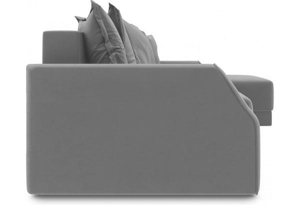 Диван угловой правый «Люксор Slim Т1» (Galaxy 04 (велюр) темно-коричневый) - фото 5