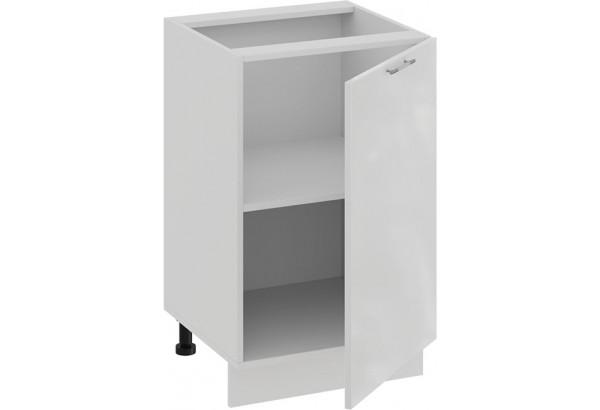 Шкаф напольный с одной дверью «Весна» (Белый/Белый глянец) - фото 2