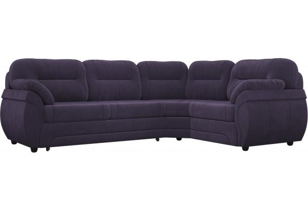 Угловой диван Бруклин Фиолетовый (Велюр) - фото 1