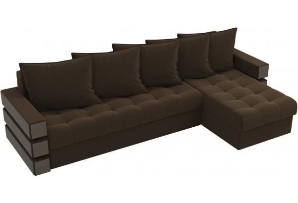 Угловой диван Венеция Коричневый (Микровельвет) - фото 4