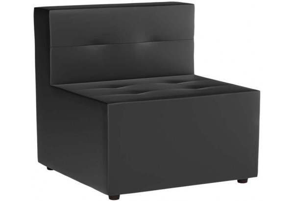 Модульный диван Домино Черный (Экокожа) - фото 1