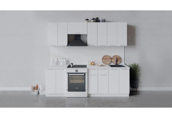 Кухонный гарнитур «Весна» длиной 240 см (Белый/Белый глянец) - фото 1
