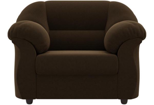 Кресло Карнелла Коричневый (Микровельвет) - фото 2