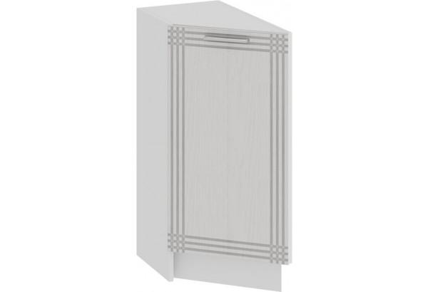 Шкаф напольный торцевой с одной дверью «Ольга» (Белый/Белый) - фото 1