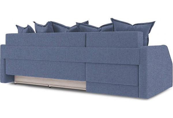 Диван угловой левый «Люксор Slim Т1» (Levis 78 (рогожка) Темно-синий) - фото 4