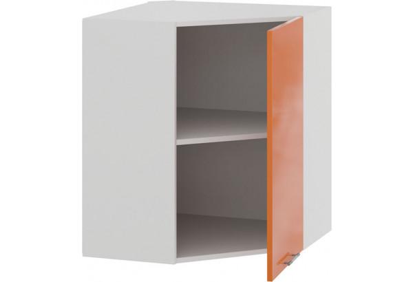 Шкаф навесной угловой «Весна» (Белый/Оранж глянец) - фото 2