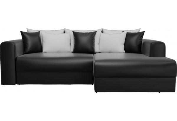 Угловой диван Мэдисон Черный (Экокожа) - фото 3