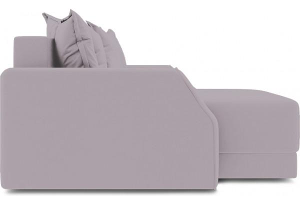 Диван угловой левый «Люксор Slim Т1» (Poseidon Pale Lavender (иск.замша) бледно-лавандовый) - фото 5