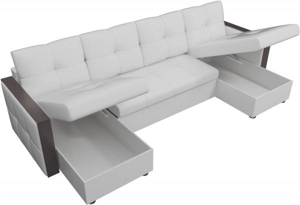 П-образный диван Валенсия Белый (Экокожа) - фото 5