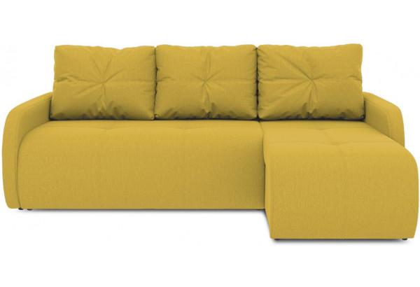 Диван угловой правый «Томас Slim Т1» (Poseidon Curcuma (иск.замша) желтый) - фото 2