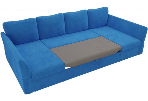 П-образный диван Гесен Голубой (Велюр) - фото 6