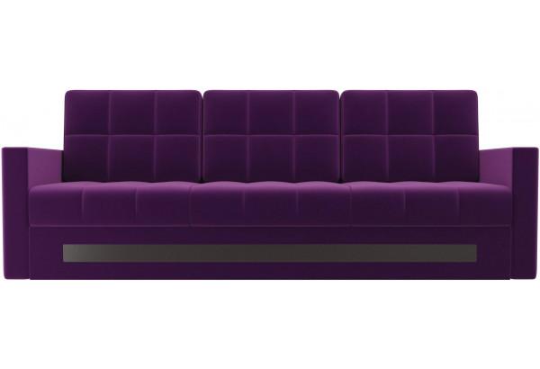 Диван прямой Белла Фиолетовый (Микровельвет) - фото 2
